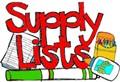 Supply List, Kindergarten Through Fourth Grade