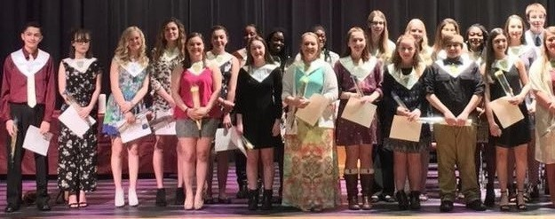 2017 National Honor Society inductees