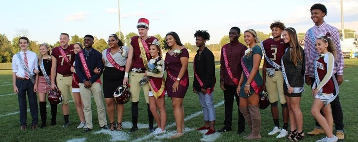 LHHS 2017 Homecoming court