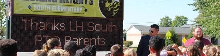 Digital sign at South Elementary