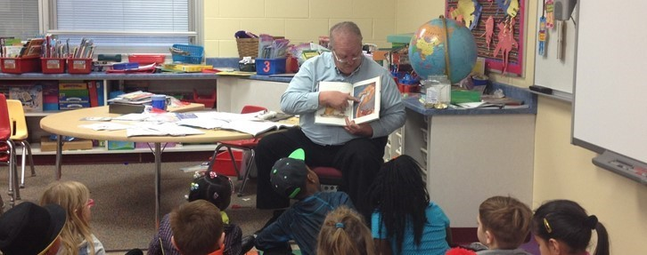 Mr. Hickin, from Pataskala City Council, Reads at West