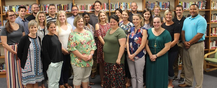 Group of new teachers