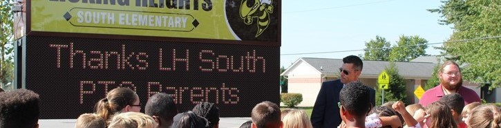 Digital sign at South Elementary 2016